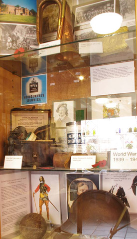 A display in Butcher Row House Museum in Ledbury