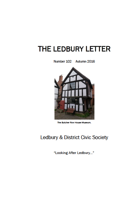 The front cover of the Spring 2016 edition of The Ledbury Letter